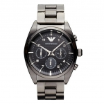นาฬิกาข้อมือ Emporio Armani Men's Gunmetal-Tone Classic Chronograph Watch AR0376 Size 42.5 mm