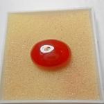 แก้ววิทูล สุริยประภา แก้วโป่งข่ามแห่งโชคลาภ ขนาด1.9 x 1.4cm ทำหัวแหวน