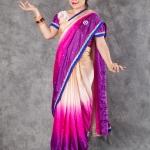เช่าชุดแฟนซี &#x2665 ชุดแฟนซี ชุดอินเดีย ชุดแขก ส่าหรี - ไซส์ใหญ่ ไล่โทน สีม่วง