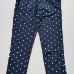 Place : กางเกงขายาวผ้ายืด สีกรมลายจุด size : 14y+