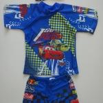 ชุดว่ายน้ำลาย McQueen สีน้ำเงิน 3 ชิ้น เสื้อ+กางเกง+หมวก size : L (6-8y) / XL (8-9y) / XXL (9-10y)