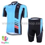 ชุดจักรยานแขนสั้น Volegarb 16 (21) สีฟ้าดำ