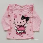เสื้อแขนยาว ลายคิตตี้ สีชมพูหวาน size : 2y / 6-8y