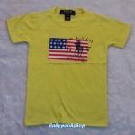 POLO : เสื้อยืดลายธงชาติ สีเหลือง size : 2-4y / 4-6y / 6-8y