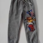 HM : กางเกงขายาว ขาจั๊ม สีเทา สกรีนลาย Hero size : 1.5-2y