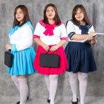 เช่าชุดแฟนซี &#x2665 ชุดแฟนซี ชุดนักเรียนไซส์ใหญ่ มีให้เลือกหลายสี แขนยาวและสั้น