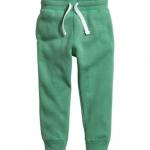 H&M : กางเกงขาจั๊ม สีเขียว (งานช้อป) size : 4-5y