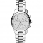 นาฬิกาข้อมือ Michael Kors MK5428 Small Runway Silver Dial Stainless Steel Chronograph Ladies Watch Size 33 mm