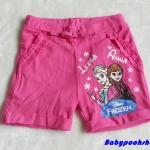 H&M : กางเกงขาสั้น ผ้า cotton ยืด สกรีนลาย Frozen สีชมพู Size 1-2y