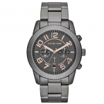 นาฬิกาข้อมือ Michael Kors รุ่น MK8330 Michael Kors Mercer Gunmetal Stainless Steel Chronograph Watch MK8330 Size 45 mm