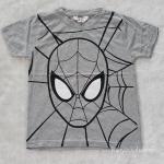 H&M เสื้อยืด spiderman สีเทา size : 2-4y