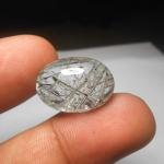 แก้วขนเหล็ก น้ำงาม เส้นแกร่ง ขนาด 2.2x1.5cm ทำหัวแหวน จี้ งามๆ