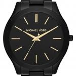 นาฬิกาข้อมือ Michael Kors รุ่น MK3221 Michael Kors Slim Runway Black-Tone Stainless Steel Bracelet Watch MK3221 Size 42 mm