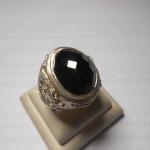 แหวนแก้วมหานิลเจียเหลี่ยมรับพลัง แก้วแห่งการปกป้องคุ่มครอง ตัวเรือนแหวนเงินมังกร เทพเจ้าแห่งโชคลาภ ลายสวยมาก
