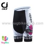 กางเกงจักรยานผู้หญิงขาสั้น CheJi 16 (08) สีขาว ลายดอกกุหลาบ Like a rose
