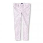 PLACE : Jeggings กางเกงขายาว พิมพ์ลาย สีม่วงอ่อน ( มีสายปรับเอว )