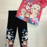 H&M Set Frozen สีชมพู เลคกิ้งสีดำ Size : 1-2y