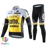 ชุดจักรยานแขนยาวทีม Bianchi 16 (01) สีเหลืองขาวดำ