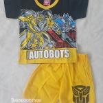 set เสื้อ+กางเกงขาสั้น Transformer size 2-4y