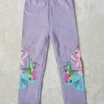 H&M : เลกกิ้ง สกรีนลายม้าโพนี่ ที่ขา สีม่วงอ่อน size : 4-6y / 8-10