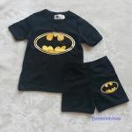 H&M : ชุดเซ็ท เสื้อแขนสั้น+กางเกงขาสั้น สกรีนลาย batman สีดำ size : 1-2y / 2-4y / 4-6y / 6-8y / 8-10y / 10-12y