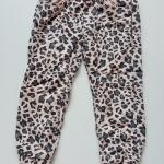 H&M : กางเกงขายาวขาจั๊ม สีชมพูลายเสือ size : 2-3y / 6-7y