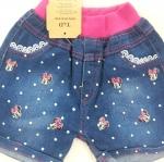 H&H : กางเกงยีนส์ขาสั้น ลายสกรีนมินนี่เมาส์ size : 1 (1y) / 6 (4y) / 7 (5y) / 8 (6y)