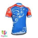 เสื้อจักรยานแขนสั้น Disida 18 (01) สีน้ำเงินแดงลาย