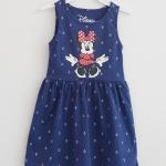 Disney : เดรสสกรีนลายมินนี่เมาส์ สีน้ำเงิน ลายสมอ size : 1-2y