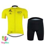 ชุดจักรยานแขนสั้นทีม Le tour de france 16 (04) สีเหลือง