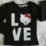 เสื้อยืดแขนยาว H&M kitty สีดำ size 2-4y