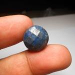 ลาพิส ลาซูลี เจียเหลี่ยม หินเทพเจ้า พลังป้องกัน ขนาด 1.5*1.5 cm ขนาดทำแหวน