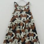 Disney : เดรสพิมพ์ลายมินนี่เมาส์ สีน้ำตาล ผ้ายืด