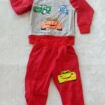 Carter's : Set เสื้อแขนยาว+กางเกงขายาว ลาย คาร์ สีแดง เนื้อผ้า นิ่ม ไม่หนามาก Size : 7y