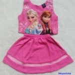 Gap Kids : Set เสื้อ + กระโปรง พิมพ์ลาย Frozen สีชมพู Size : 8y / 9y / 14y