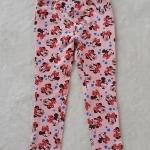 H&M : กางเกงขายาว สีชมพู ลายมินนี่เมาส์ โบว์สีแดง size : size : 2 (2-3y) / 4 (4-5y) / 8 (6-8y)
