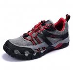 รองเท้าเดินป่าขี่จักรยาน AUUPGO รุ่น 13-03 สีเทาแดงดำ