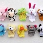 ตุ๊กตาหุ่นนิ้วมือรูปสัตว์ แพ็ค 10 ตัว
