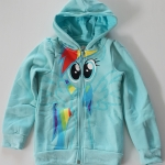 H&M : เสื้อแจ็กเก็ต กันหนาว ลายม้าโพนี่ ด้านหลังมีปีก สีฟ้า size : 1-2y