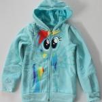 H&M : เสื้อแจ็กเก็ต กันหนาว ลายม้าโพนี่ ด้านหลังมีปีก สีฟ้า size : 1-2y / 10-12y