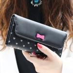 กระเป๋าสตางค์แฟชั่นสีดำ