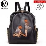 กระเป๋าสะพายหลัง กระเป๋าเป้ กระเป๋าหนังสไตล์เกาหลี No.0265 - Black