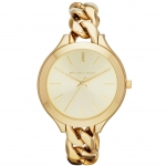 นาฬิกาข้อมือ Michael Kors รุ่น MK3222 Michael Kors Slim Runway Champagne Dial Gold-tone Ladies Watch MK3222