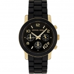 นาฬิกาข้อมือ Michael Kors MK5191 Black Runway Midsized Watch Size 38 mm