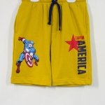 Marvel : กางเกงขา 3 ส่วน เอวยืด Captan America สีเหลืองตุ่น Size : 5 (5-6y)