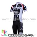 ชุดจักรยานแขนสั้นทีม BMC 13 (01) สีขาวดำ สั่งจอง (Pre-order)