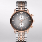 นาฬิกาข้อมือ Emperio Armani Rose Gold-Tone & Stainless Steel Men's Watch AR1721 Size 43 mm