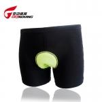 กางเกงจักรยาน Boxer GetMoving กางเกงสีดำ เป้าเจลสีเขียว