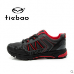 รองเท้าจักรยานเสือภูเขาแบบผ้าใบ TIEBAO รุ่น TB22-B1323 สีดำแดง สั่งจอง (Pre-order)