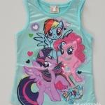 เสื้อกล้าม my little Pony สีฟ้า size : 8 (2-3y) / 10 (3-4y) / 12 (4-5y) / 14 (5-6y)